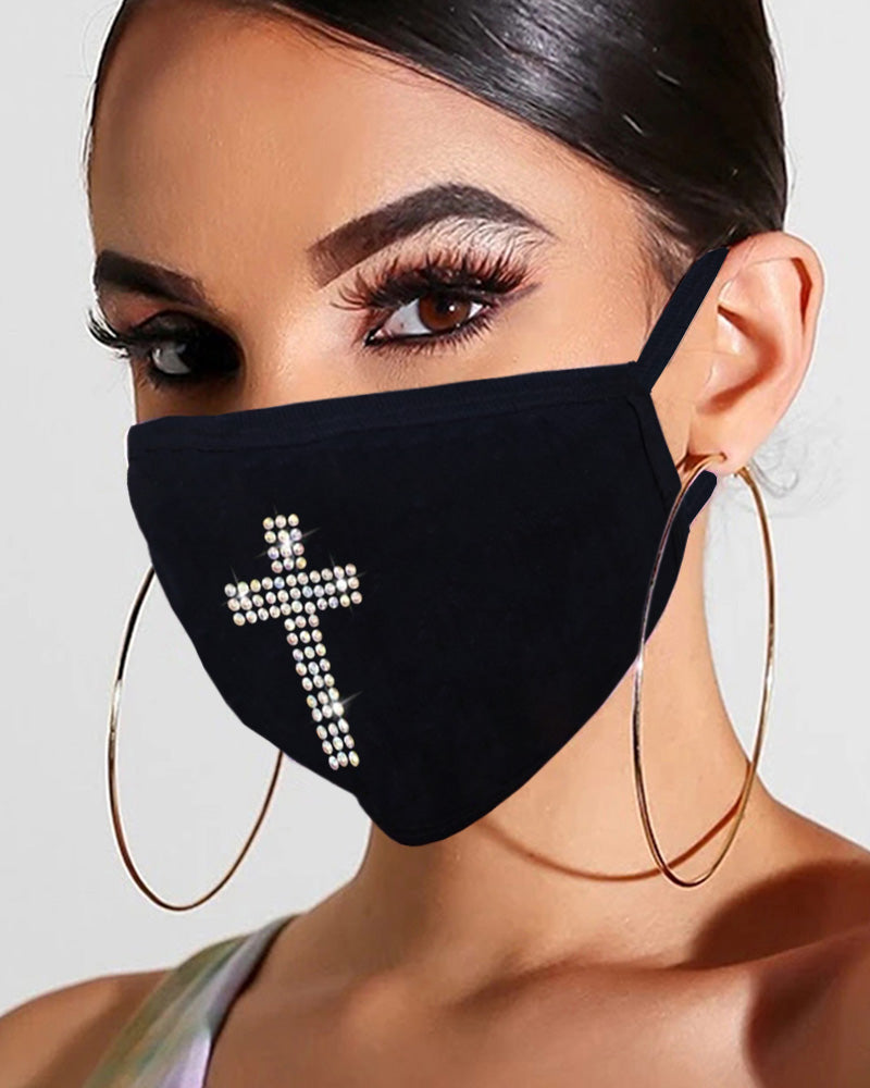 Studded Glitter Breathable Mouth Mask Reusable