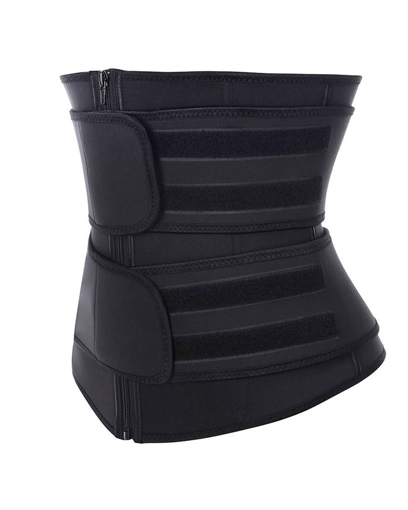 Solid Waist Trainer Corset Neoprene Sweat Belt Tummy Slimming Sport Shapewear Breathable Belly Fitness Modeling Strap Shaper