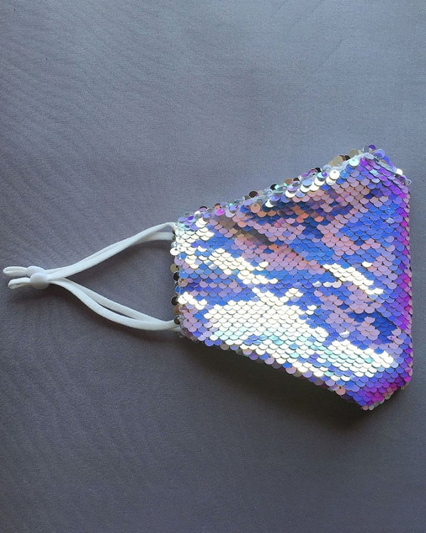 Sequins Colorblock Ear Loop Breathable Mouth Mask