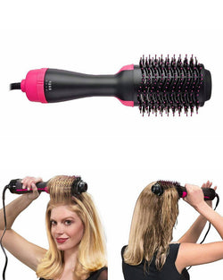 Salon Hot Air Paddle Styling Brush Negative Ion Generator Hair Straightener Curler