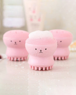 Animal Small Octopus Shape Silicone Facial Cleaning Brush