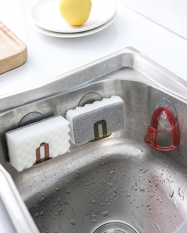 Kitchen Suction Cup Sink Drain Rack Sponge Storage Holder