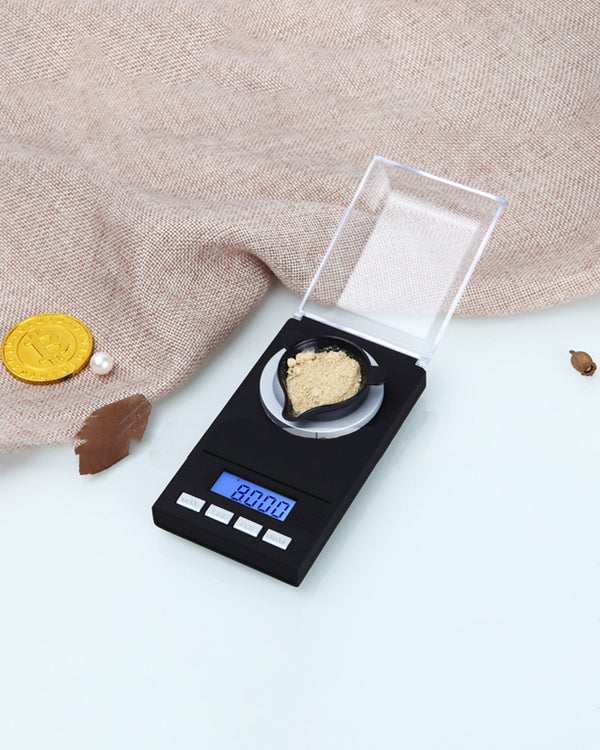 0.005g-50g Digital Precision Electronic Scale Laboratory Medical Balance LCD Display Portable Jewelry Scales Gram Weight Scale