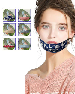 Grid Animal Print Mouth Clear Window Visible Face Mask