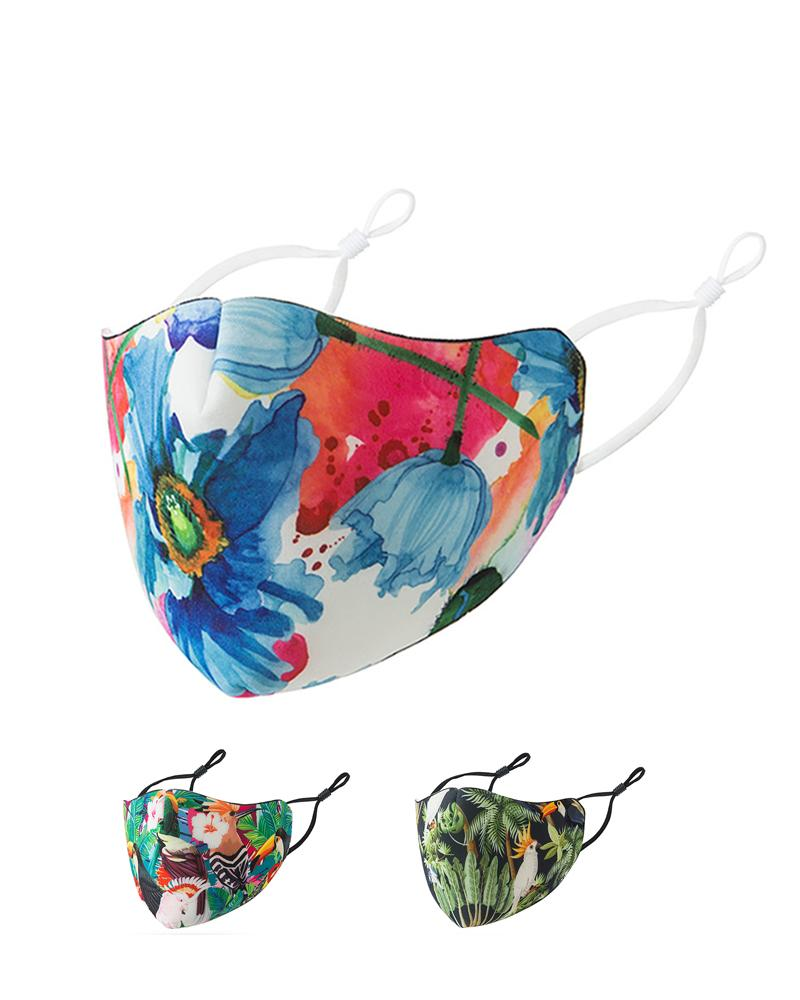 Tropical / Floral / Paisley Print Breathable Face Mask
