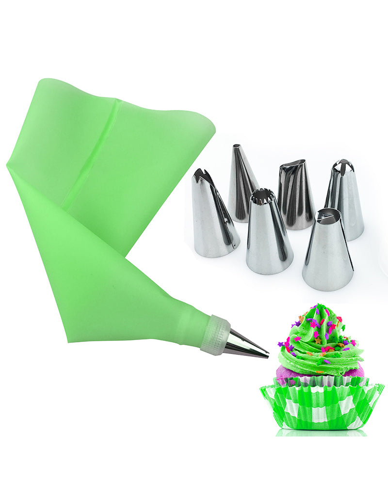 6Pcs/Set Stainless Steel Pastry Nozzles for Cream with Pastry Bag