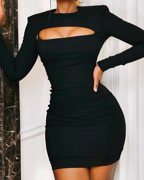 Bodycon Bust Cutout Mini Dress