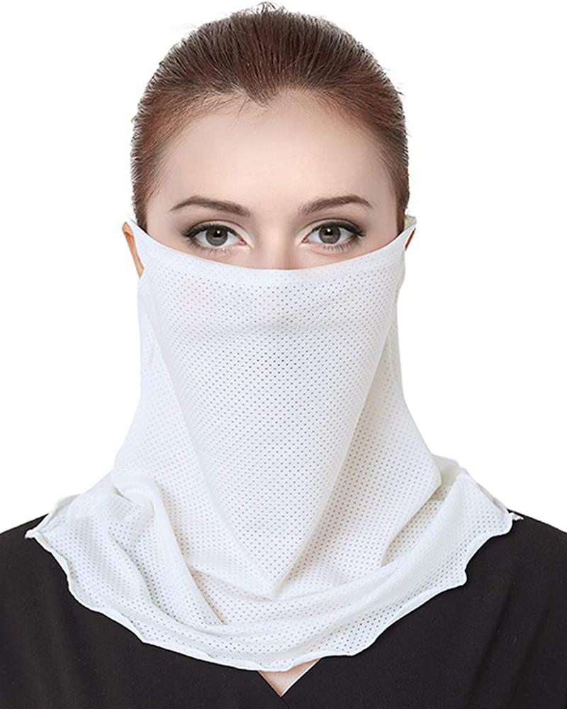Ice Silk Breathable Ear Loop Face Cover Windproof Outdoors
