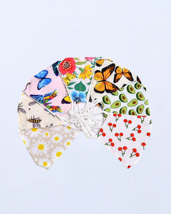Butterfly / Daisy / Fruit Print Breathable Mouth Mask