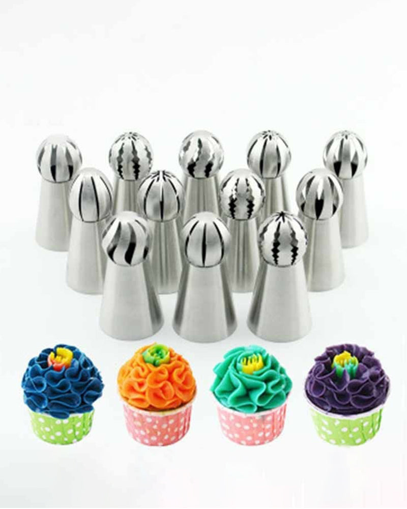 Cupcake Sphere Ball Shape Icing Piping Nozzles