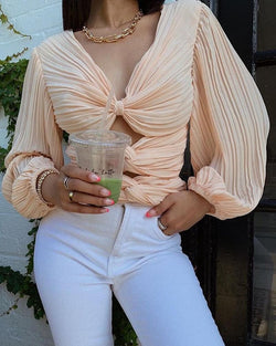 Cut-Out Twist Front Top