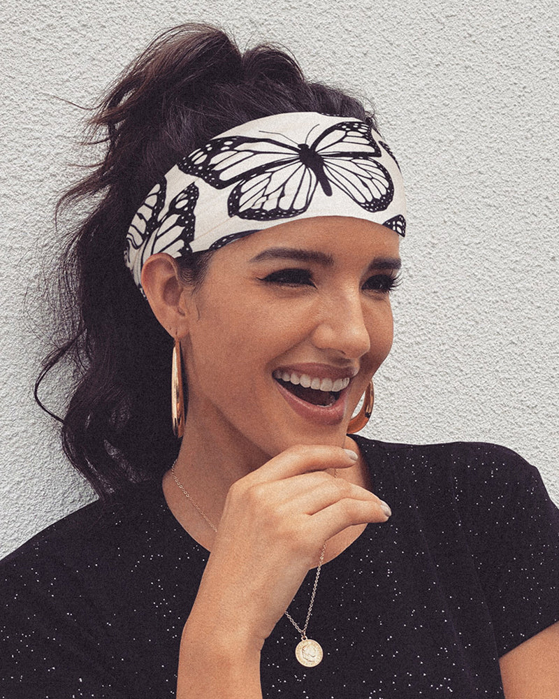Butterfly Print Yoga Running Elastic Headwraps Hair Band