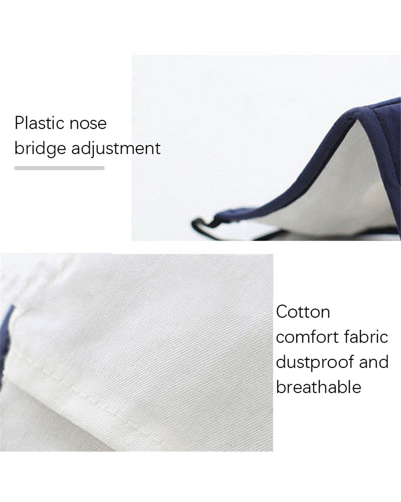 Cotton Reusable Washable  Face Mask With Valve (2 fillters as gift)