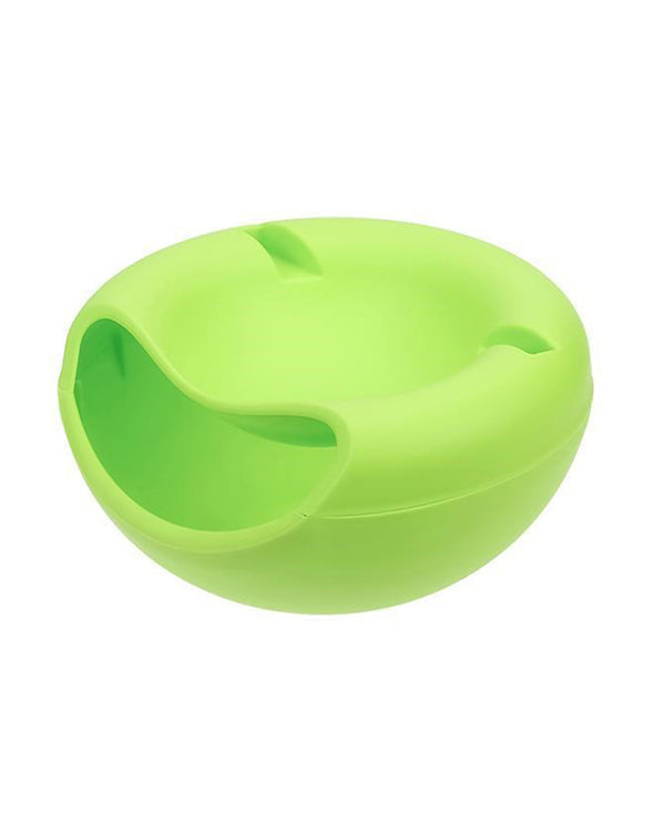 Creative Plastic Double Layer Snack Storage Lazy Fruit Plate Bowl