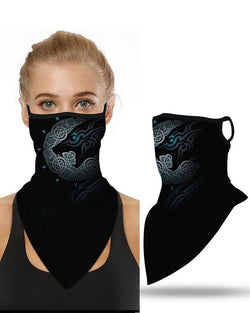 Print Breathable Ear Loop Face Cover Windproof Motorcycling Dust Outdoors
