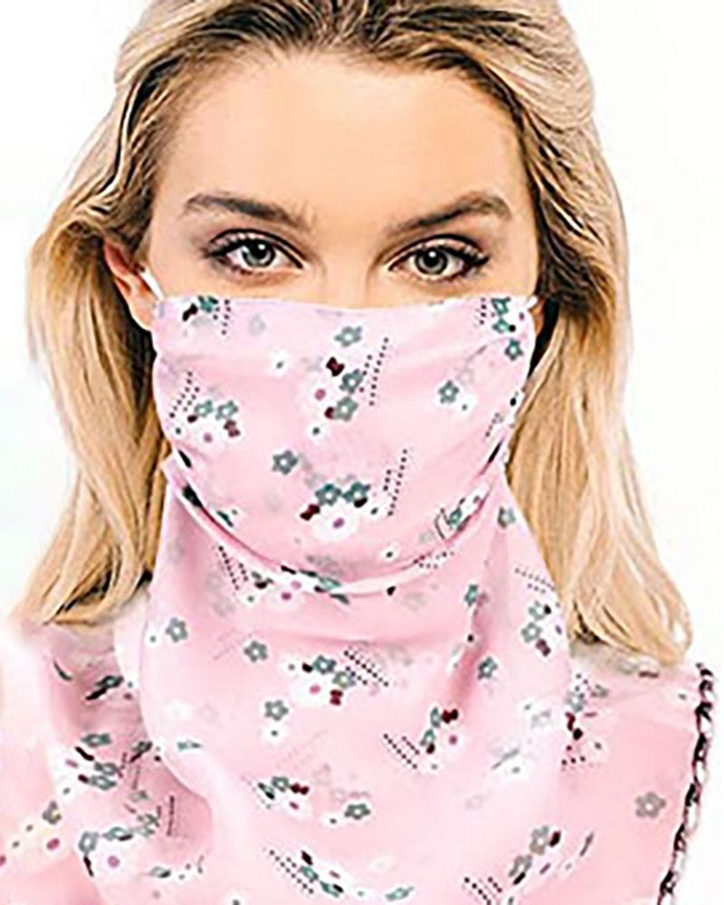 Floral Print Sun Protection Face Covers Breathable Neck Gaiters