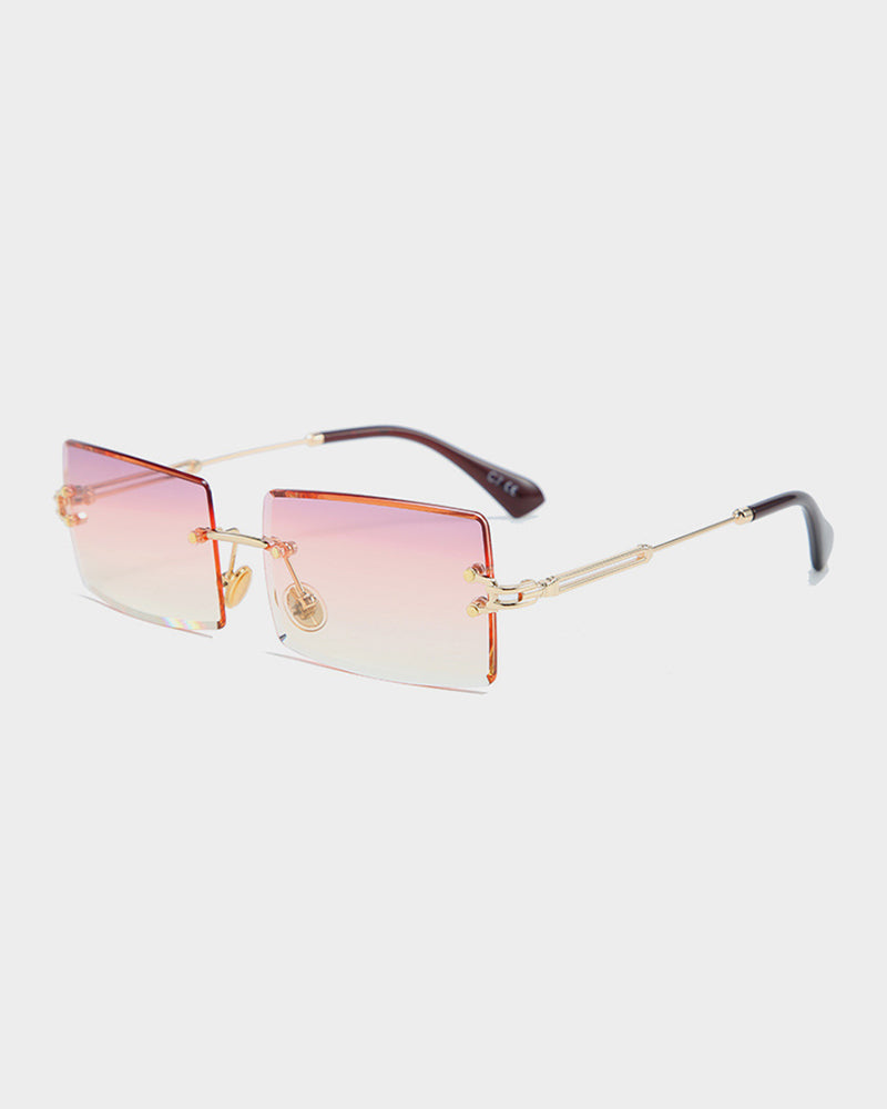 Square Frame Rimless Sunglasses