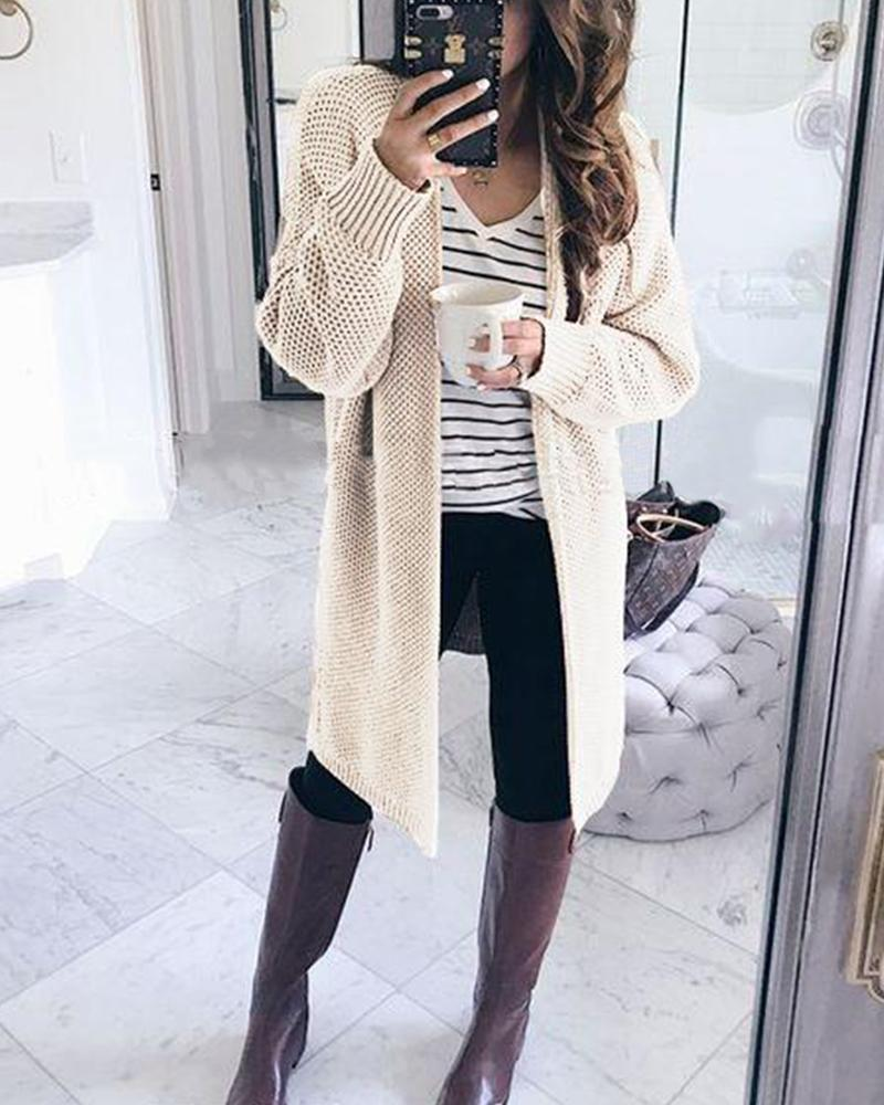 Long Sleeve Criss-Cross Knit Cardigan