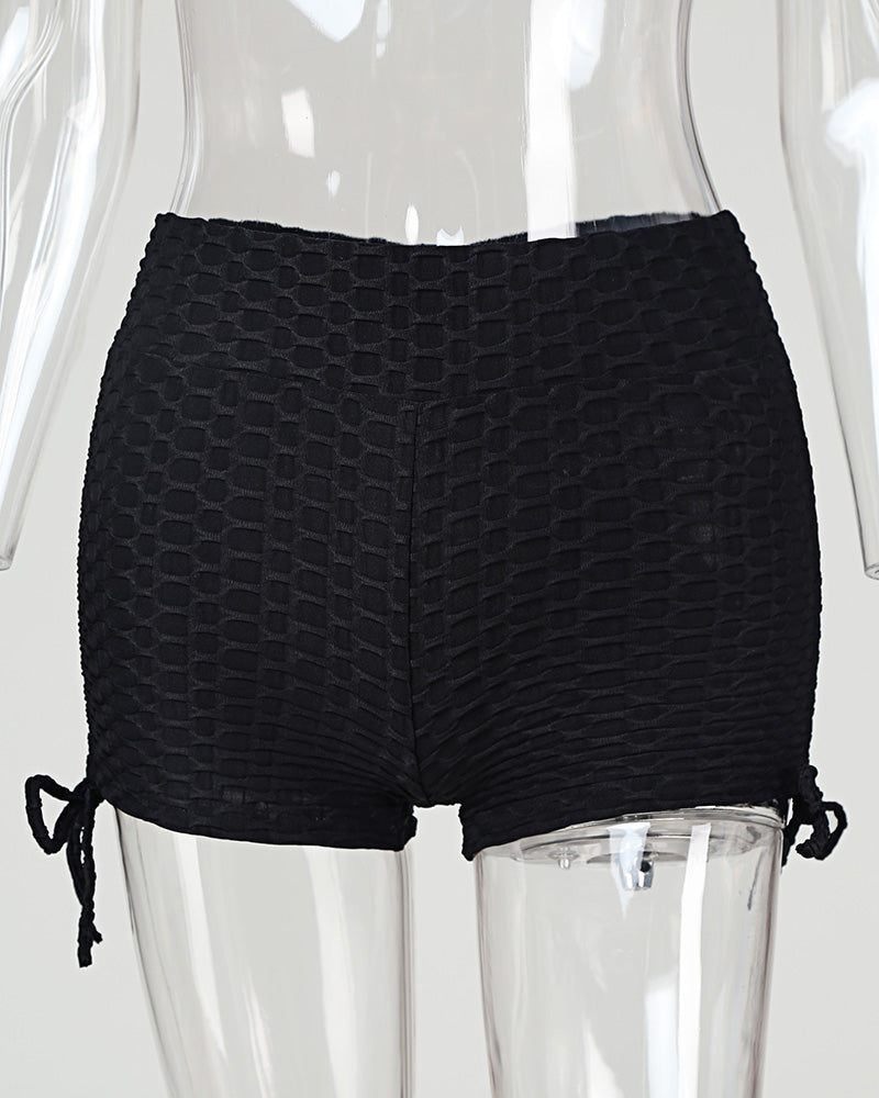 High Waist Ruched Shorts