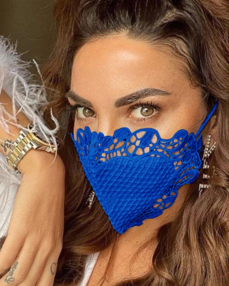 Crochet Trim Sunscreen Breathable Face Mask