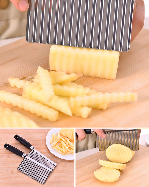 Vegetable and Fruit Wave Cutting Stainless Steel Knife
