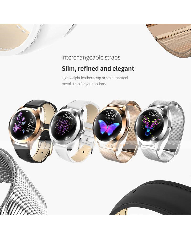 Smart Watch BT Fitness Tracker Support Notify/Heart Rate Monitor Sport Stainless Steel Bluetooth