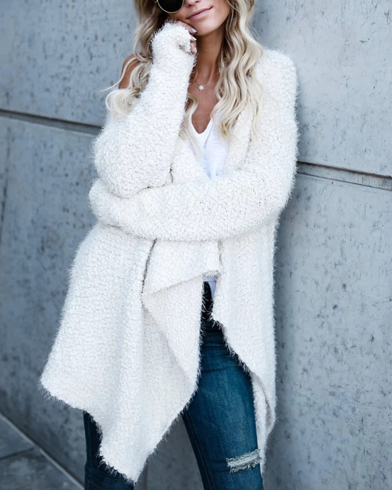 Fashion Pleated Irregular Cardigans Coat