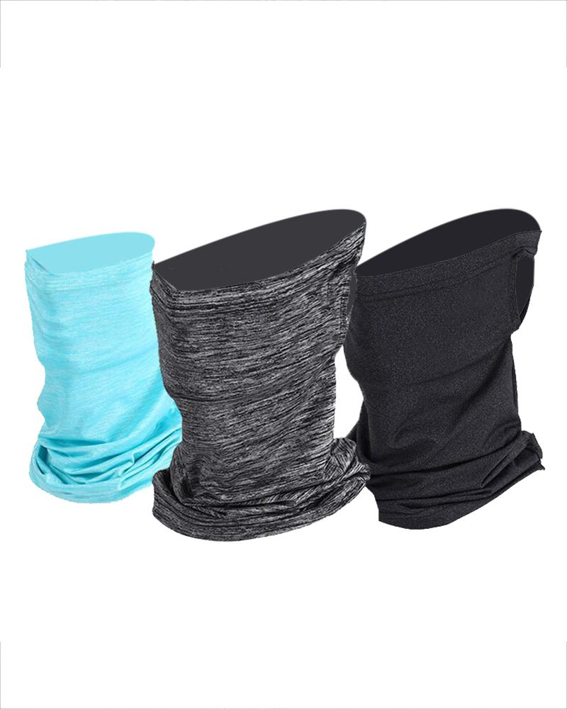 Solid Breathable Face Bandana Magic Scarf Headwrap Balaclava