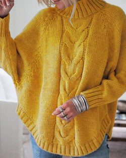 High Neck Dolman Sleeve Sweater