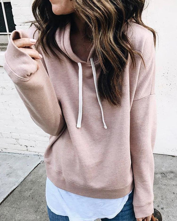 Solid Long Sleeve Casual Hoodies