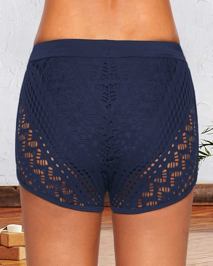 Lace Hollow Out Swimwear Shorts