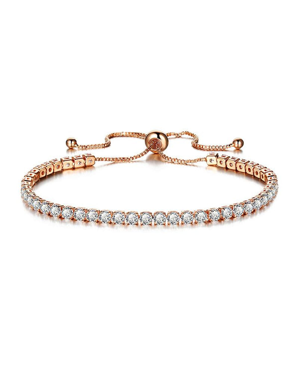 Rhinestone Adjustable Chain Bracelet