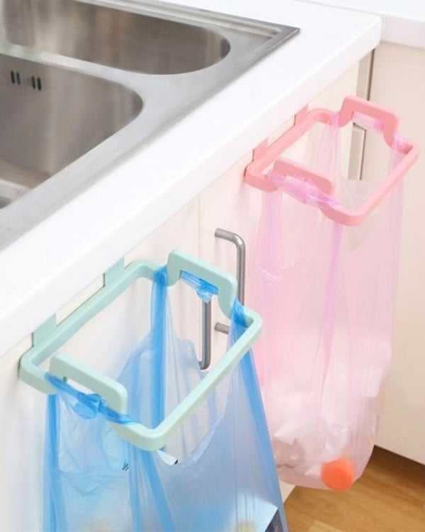 Plastic Garbage Bag Rack Portable Hanging Trash Rubbish Bag Storage Rack Holder Kitchen Gadgets Storage