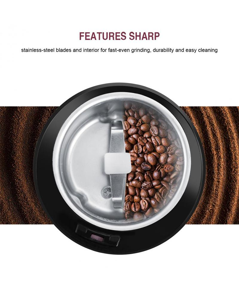 Electric Coffee Grinder Mini Kitchen Salt Pepper Grinder Powerful Beans Spices Nut Seed Coffee Bean Grind Mill Herbs Nuts