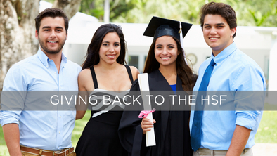 You Buy, We Give! 10% of all sales through July 31st benefit the Hispanic Scholarship Fund