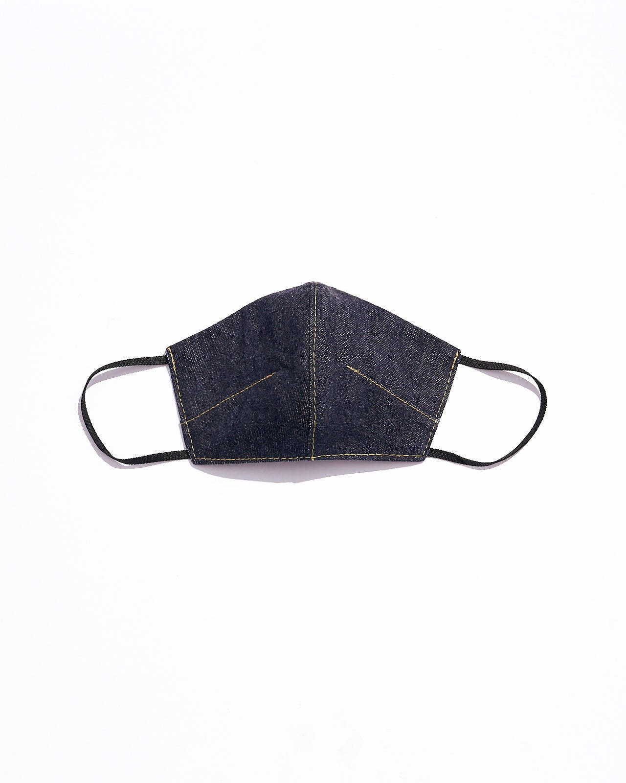 Denim Face Mask with Filter Pocket, Raw Denim