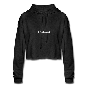 Women's Cropped Hoodie - deep heather