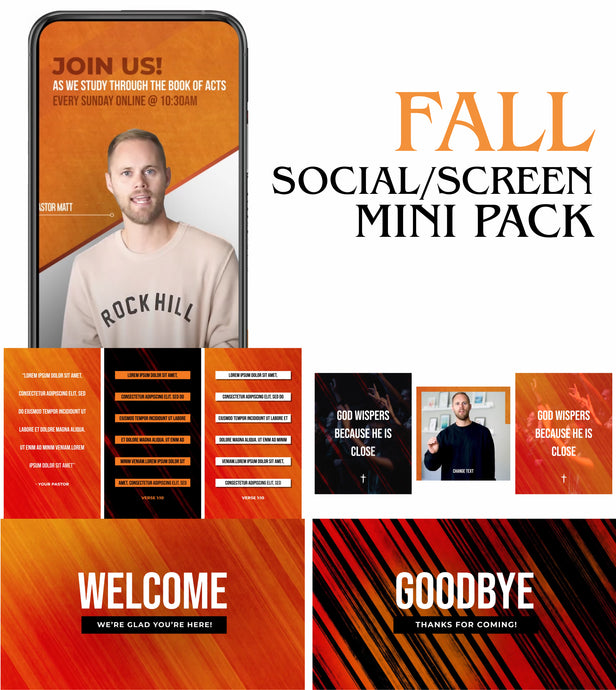 Fall Social/Screen Mini Pack