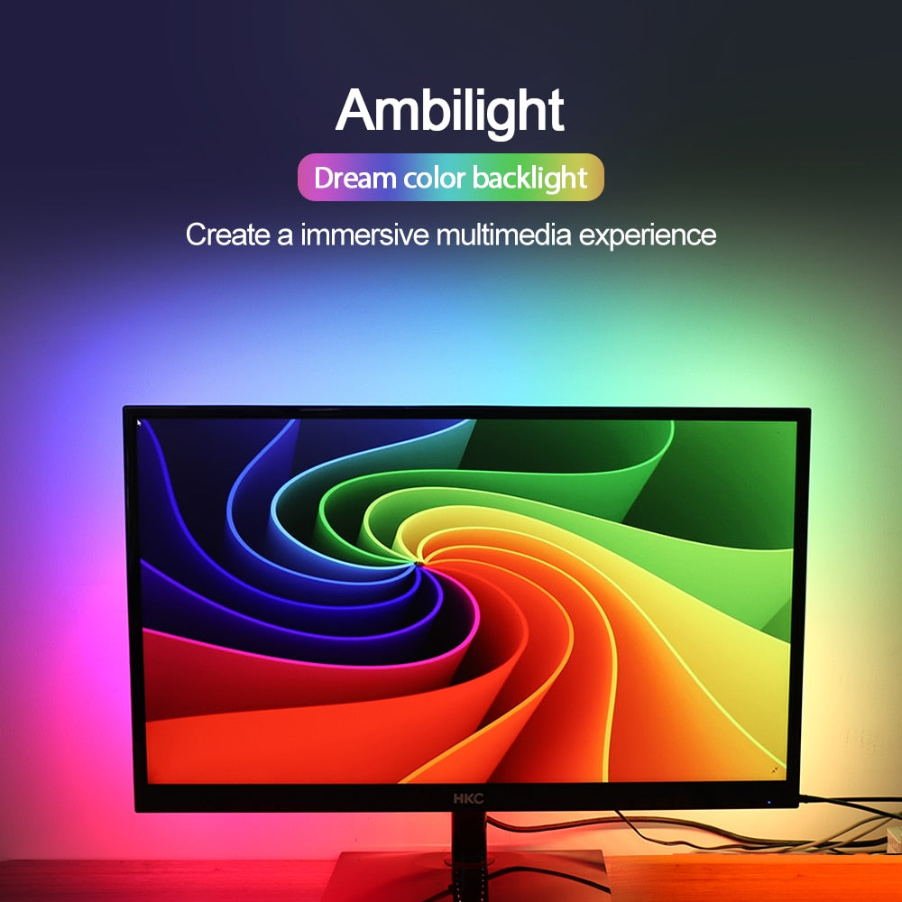 Ambilight TV USB LED Strip light 5050 RGB