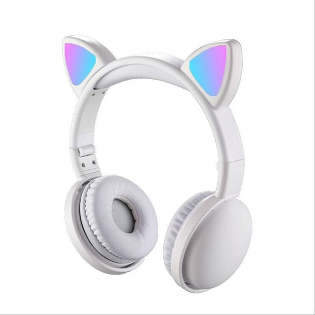 Cute LED Cat Ear Noise Cancelling Headphones Bluetooth 5.0