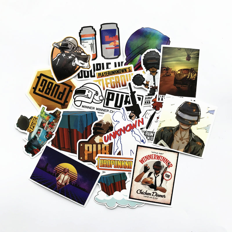 29Pcs PUBG Game Stickers