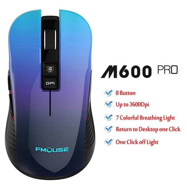 M600 pro Rechargeable Wireless Gaming Mouse Optical LED 2.4GHz
