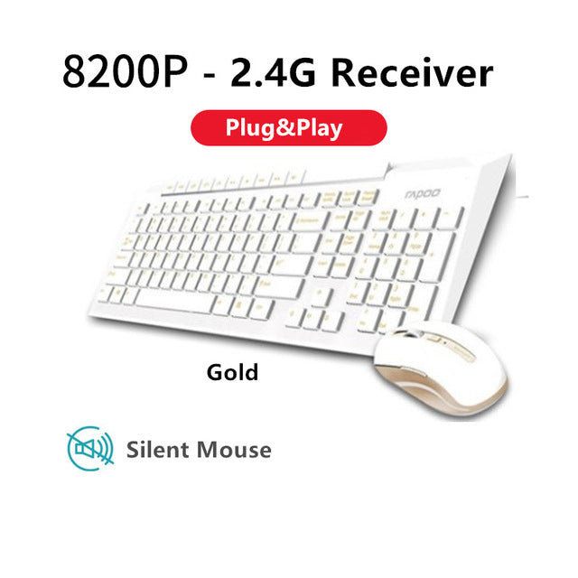 Rapoo Multimedia Wireless Keyboard Mouse Combo