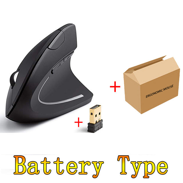 USB Rechargeable Wireless Mouse 2.4GHz Vertical Gaming Mouse
