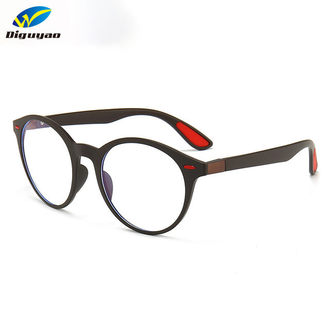 DIGUYAO Unisex Retro TR90 Round Frame anti blue ray glasses
