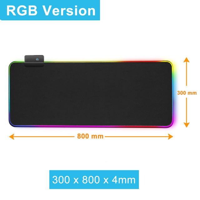 Gaming Mouse Pad Computer Mousepad RGB XXL