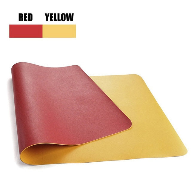 Double-side Usable Mouse Pad PU Leather