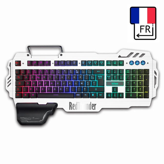RedThunder K900 RGB Wired Gaming Keyboard Mechanical Feel 25 Keys Anti-ghosting Ergonomics