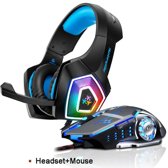 Hunterspider V1 Stereo Gaming Headset and Mouse Combo