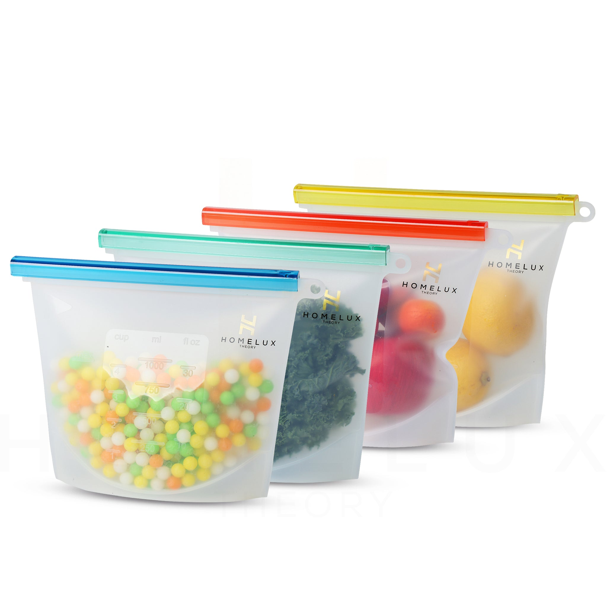 Reusable Silicone Food Storage Bags (4 Medium)